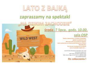 Na Dzikim Zachodzie plakat